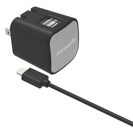 Digipower 2.4AMP Dual Wall Charger + LC Image 1