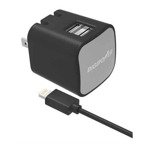 Digipower 3.4AMP Dual Wall Charger + LC Image 1