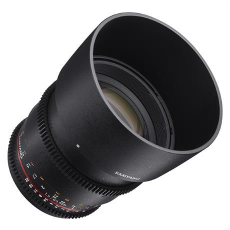 Samyang 85mm T1.5 VDSLR II Lens - Canon Fit Image 1