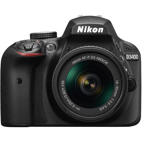 Nikon D3400 Body with 18-55 Kit Front