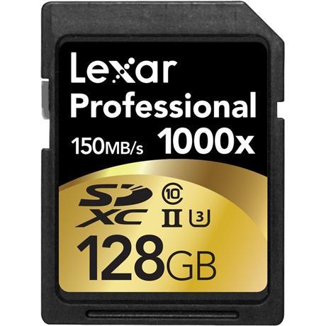 Lexar 128GB Professional 1000x UHS-II SDXC Image 1