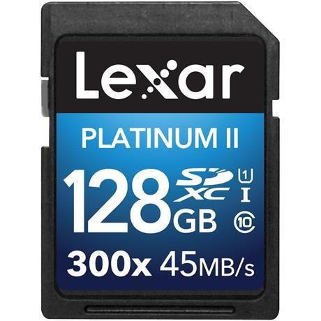 Lexar 128GB SDXC 300X 45MBs Class 10 Image 1