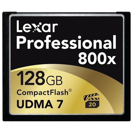 Lexar 128GB Professional 800x CompactFlash Image 1