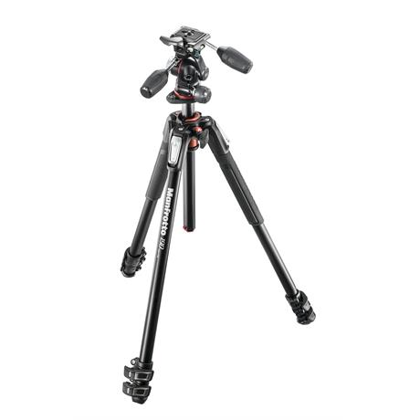 Manfrotto MK190XPRO3-3W 3 Section Aluminium Tripod with MHXPRO-3W 3-Way Head Image 1