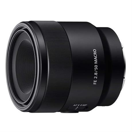 Sony FE 50mm f/2.8 Macro Front left side