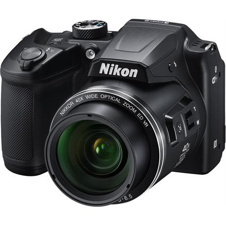 Nikon Coolpix B500 Black Front Angle