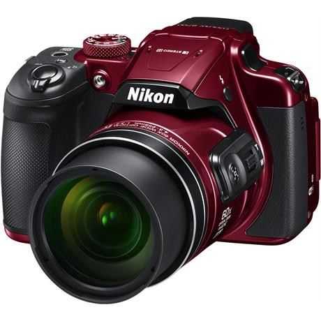 Nikon Coolpix B700 Red Front Angle