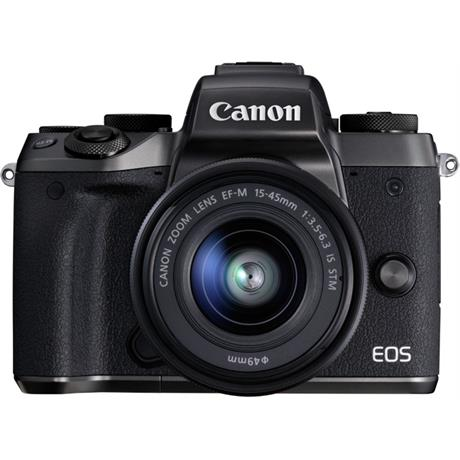 Canon EOS M5 with EF-M 15-45 Kit Front