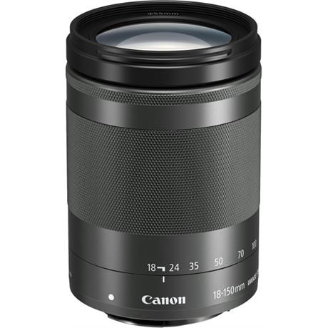 Canon EF-M 18-150mm Black Side Angle