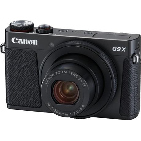 PowerShot G9 X II Black Angle