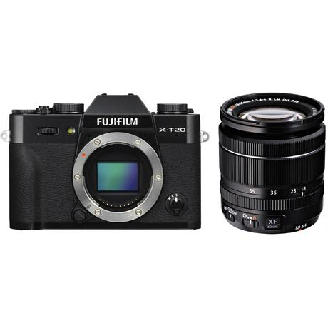 Fujifilm X-T20 Camera With XF 18-55mm LM OIS Lens Kit - Black Image 1