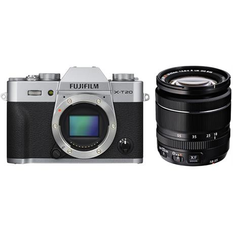 Fujifilm X-T20 Camera With XF 18-55mm LM OIS Lens Kit - Silver Image 1
