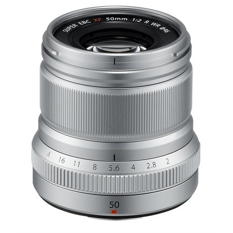 Fujifilm XF 50mm f/2.0 Silver Side Top Angle