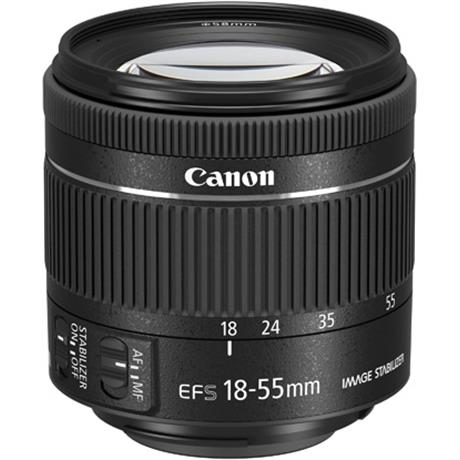 Canon EF-S 18-55mm f4-5.6 IS STM Side Angle
