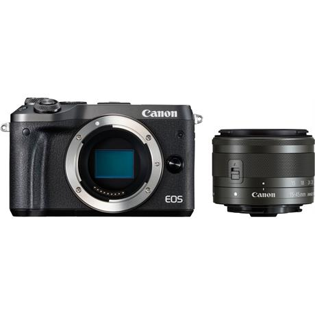 Canon EOS M6 Mirrorless Body With EF-M 15-45mm IS STM Lens - Black Image 1