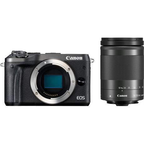 Canon EOS M6 Black + EF-M 18-150mm f/3.5-6.3 IS STM Black Lens Kit Image 1