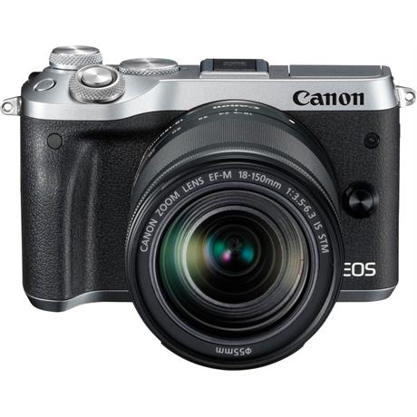 Canon EOS M6 Mirrorless Body With EF-M 18-150mm IS STM Lens - Silver Image 1