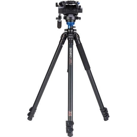 A2573FS6 Series 2 Aluminium 3 Section Single Leg Video Tripod with S6 Head Kit