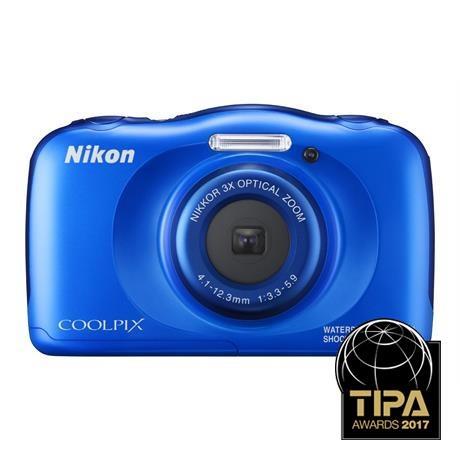 Nikon Coolpix W100 Blue Waterproof Compact Camera Image 1