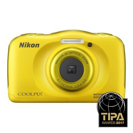 Nikon Coolpix W100 Yellow Waterproof Compact Camera Image 1