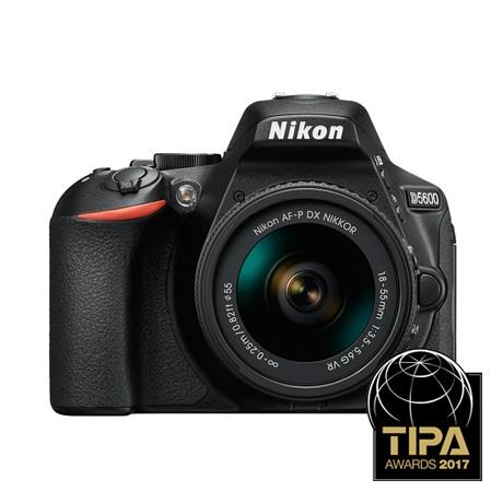 Nikon D5600 Digital SLR Camera + 18-55mm AF-P VR Lens Kit - Black Image 1