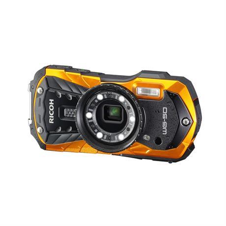 Ricoh WG-50 waterproof action camera in orange