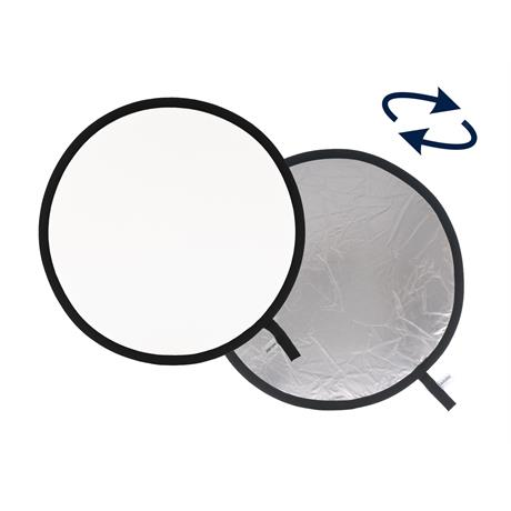 Collapsible Reflector 50cm Silver/White LL LR2031