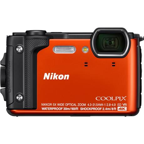 Nikon Coolpix W300 Waterproof Compact Camera in Orange Image 1