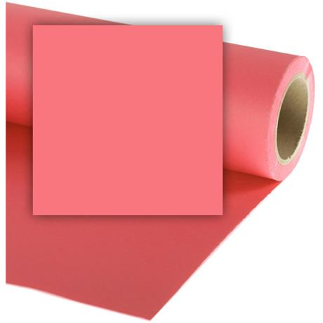 Colorama 1.35mx11m Coral Pink Photographic Paper Image 1