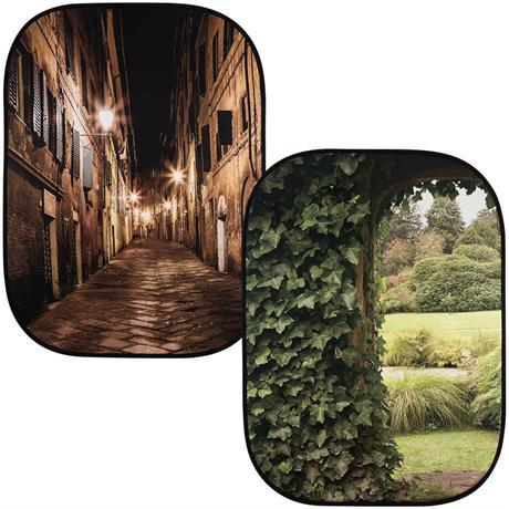 Lastolite Perspective BG Evening Street & Ivy Archway 2.15 x 1.54m Studio Background Image 1