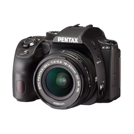 Pentax K-70 DSLR With HD Pentax-DA 18-50mm f4-5.6 DC WR RE Lens Kit Image 1