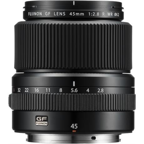 Fujifilm Fujinon GF 45mm f/2.8 R WR Medium Format Lens Front