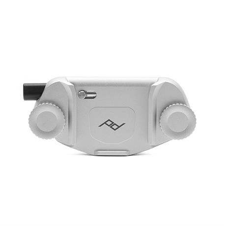 Peak Design Capture Camera Clip (v3) Silver with Standard Plate Image 1