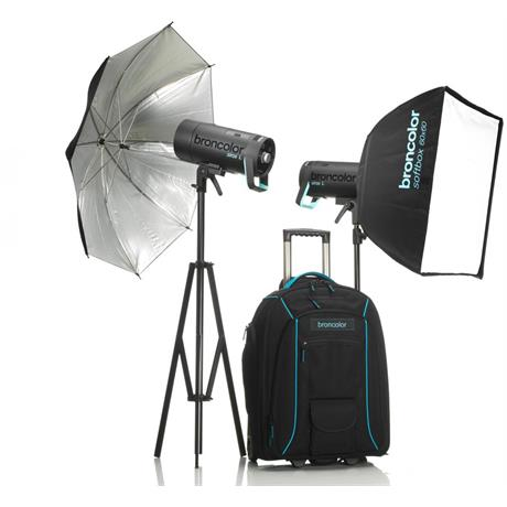 Broncolor Siros 400 L Outdoor Kit 2 WiFi / RFS 2 Flash Head Kit Image 1