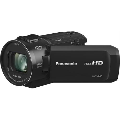 Panasonic HC-V800EB Full HD Video Camera - Black Image 1