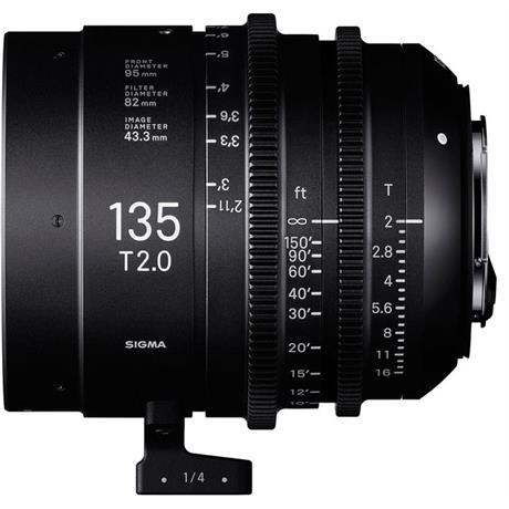 Sigma 135mm T2 FF Cine Prime Lens - Sony E-Mount Image 1