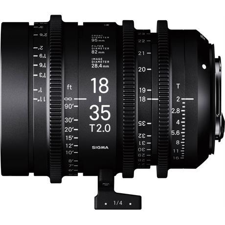 Sigma 18-35mm T2 Cine Zoom Lens - Sony E-Mount Image 1