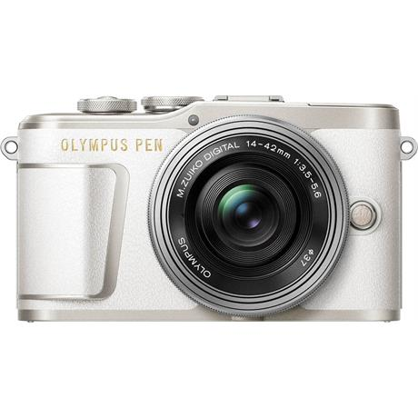 Olympus PEN E-PL9 With 14-42mm EZ Pancake Lens Kit - White Image 1