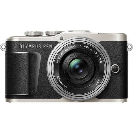 Olympus PEN E-PL9 With 14-42mm EZ Pancake Lens Kit - Black Image 1
