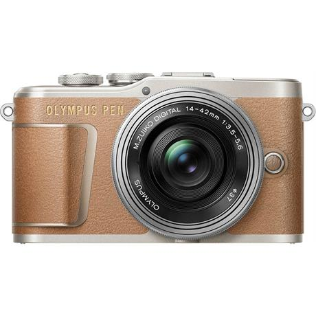 Olympus PEN E-PL9 With 14-42mm EZ Pancake Lens Kit - Brown Image 1