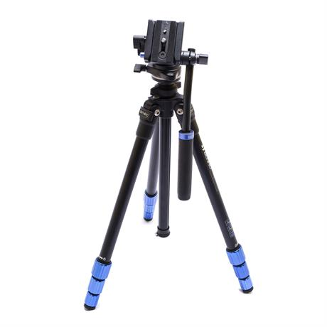 Slim Aluminium Video Tripod with Fluid Head