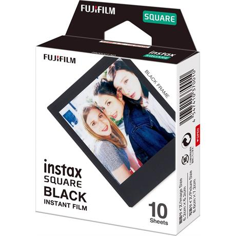 Fujifilm instax Square SQ Black Frame Instant Film Image 1