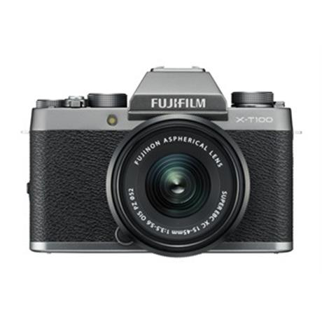 Fujifilm X-T100 mirrorless digital camera + 15-45mm  XC lens Dark Silver Image 1