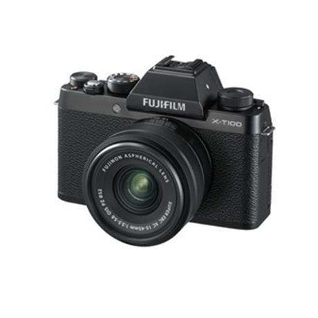 Fujifilm X-T100 mirrorless digital camera + 15-45mm XC lens Black Image 1
