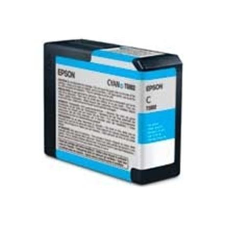 Epson T5802 Ultrachrome K3 Cyan (80ml) - for PRO 3800 Image 1