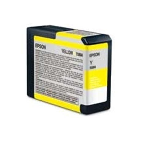 Epson T5804 Ultrachrome K3 Yellow (80ml) - for PRO 3800  Image 1