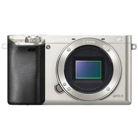 Sony A6000 Silver Mirrorless Digital Camera - Body Only Image 1