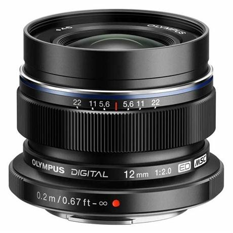 Olympus M.Zuiko Digital ED 12mm f/2 Wide Angle Lens - Black Image 1