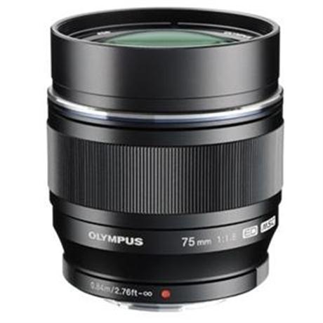 Olympus M.Zuiko Digital ED 75mm f/1.8 Telephoto Lens - Black Image 1