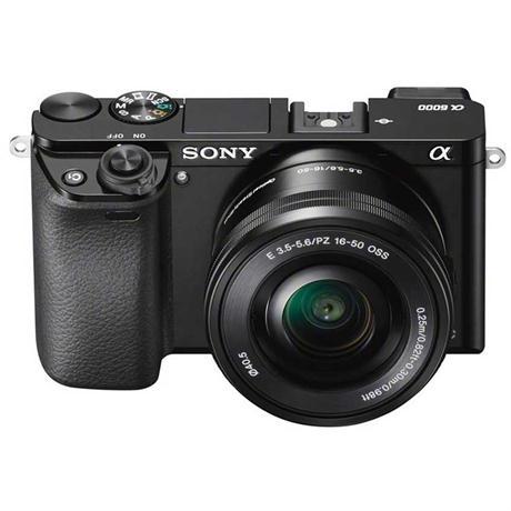 Sony A6000 mirrorless digital camera + 16-50mm PZ Lens + 55-210mm Lens - Black Image 1